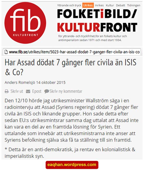 Assads dödande